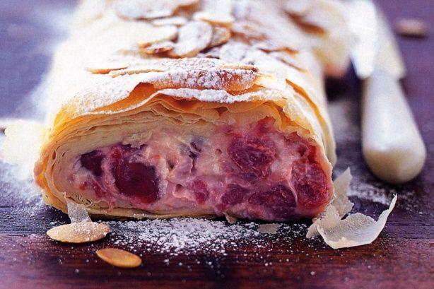 Sour cherry & cream cheese strudel main image