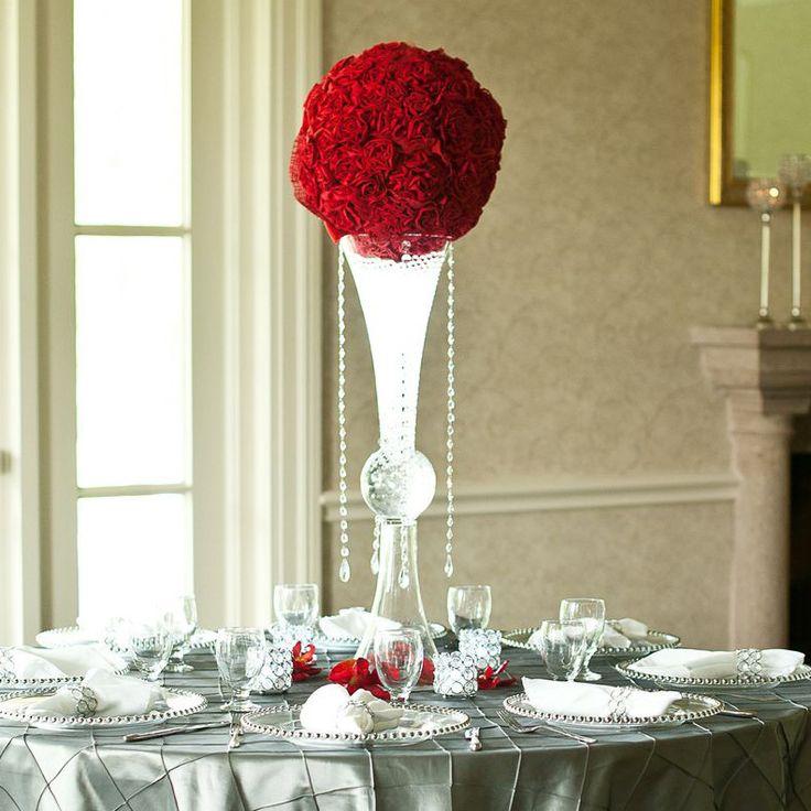 Clear Reversible Trumpet Glass Floral Vase Centerpiece – shop.PartySpin.com