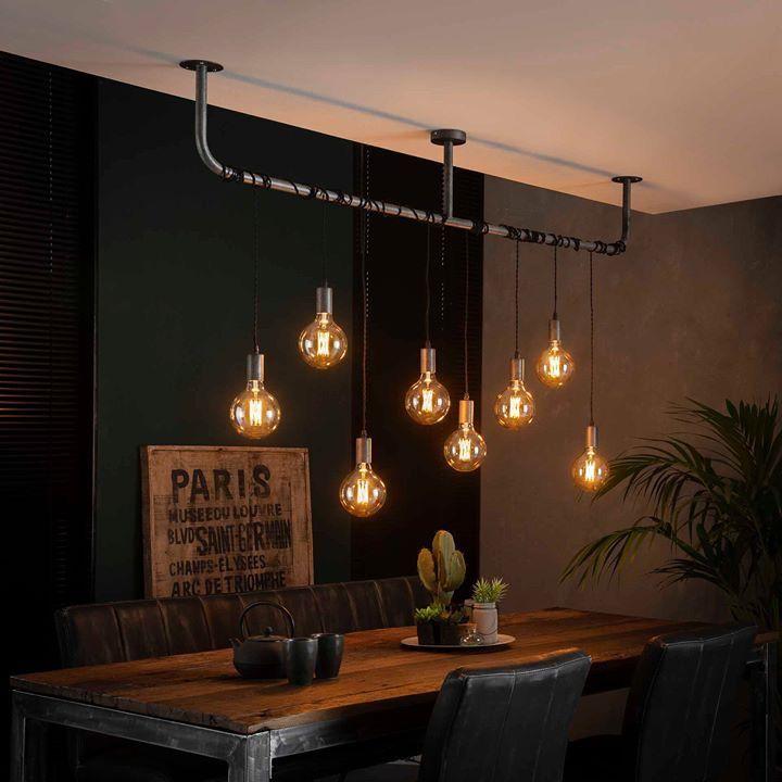 Industriele Hanglamp Eetkamer Lamp Design Industriele Hanglampen Industriele Woonkamers