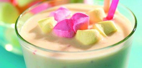 Yoghurtshake met peer en banaan