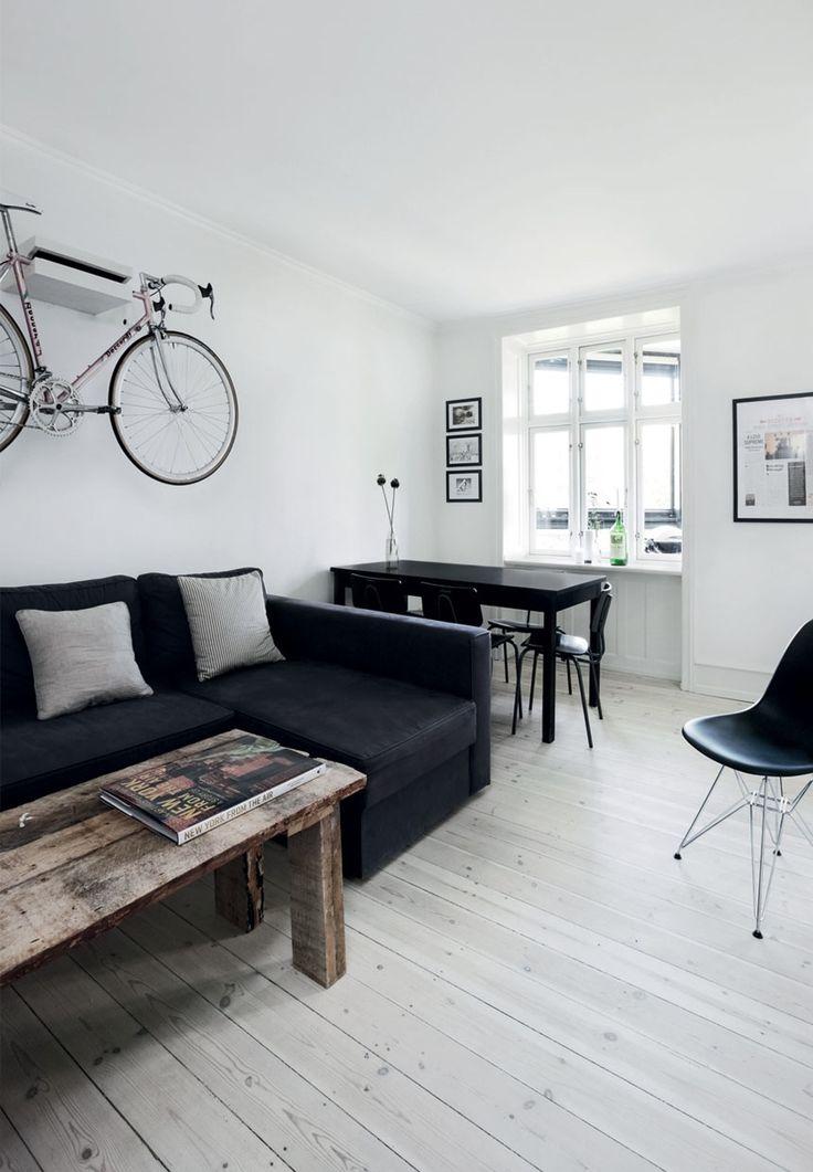 Hjemmelavet sofabord og cykelophæng