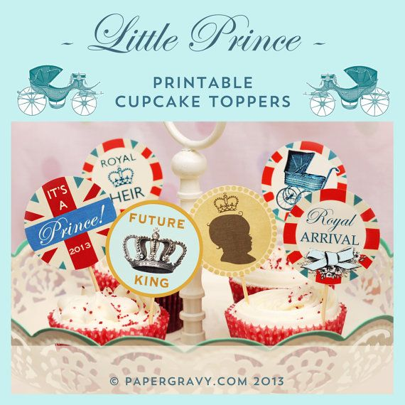Its a boy!! Congratulations on the birth of the new Royal prince! Celebrate in British royalty style with these adorable printable digital baby
