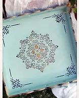 Χειροποίητοι δίσκοι σερβιρίσματος για την επιτραπέζια διακόσμηση του σπιτιού,του κήπου ή της βεράντας,μεταμορφωμένοι με την Τέχνη του Decoupage...