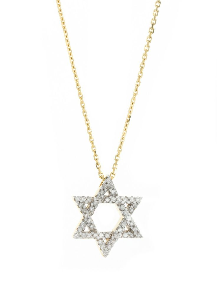 London Collection Yellow Gold Small Star of David Pendant Necklace
