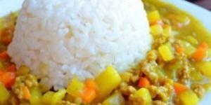 Рис с мясным карри