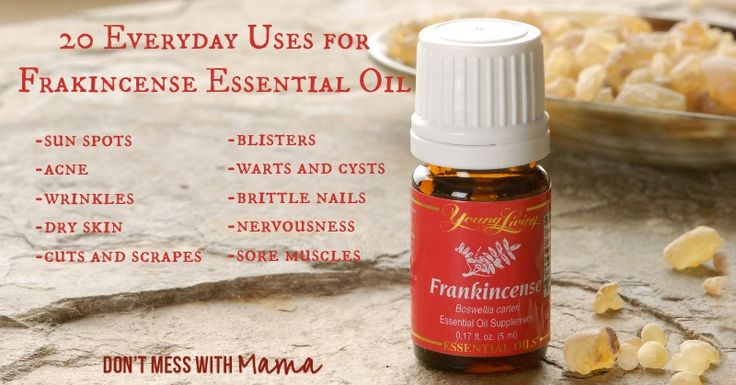 20 Uses for Frankincense Essential Oil #essentialoil #naturalbeauty - DontMesswithMama.com