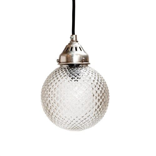 The beautiful glass ceiling light measures and comes with 1m of black textile flex A stunning lights that will cast a really pretty light The glass