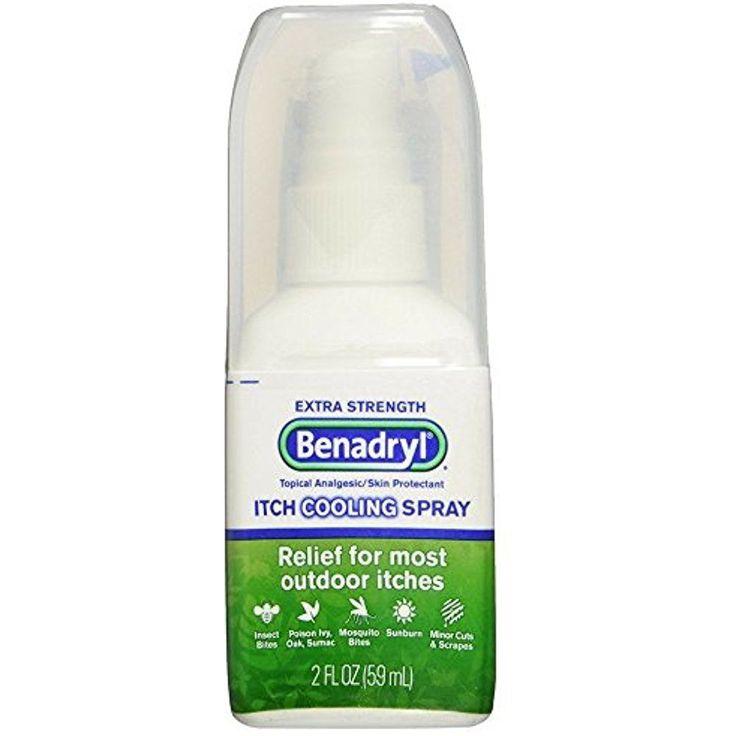 Benadryl Itch Relief Spray Extra Strength Insect Bites Mosquito Poison Ivy 2 oz #Benadryl