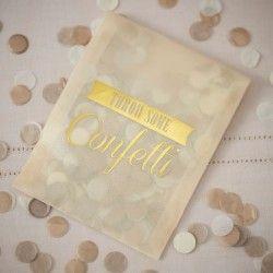 Confetti Envelopes - Gold - A Vintage Affair