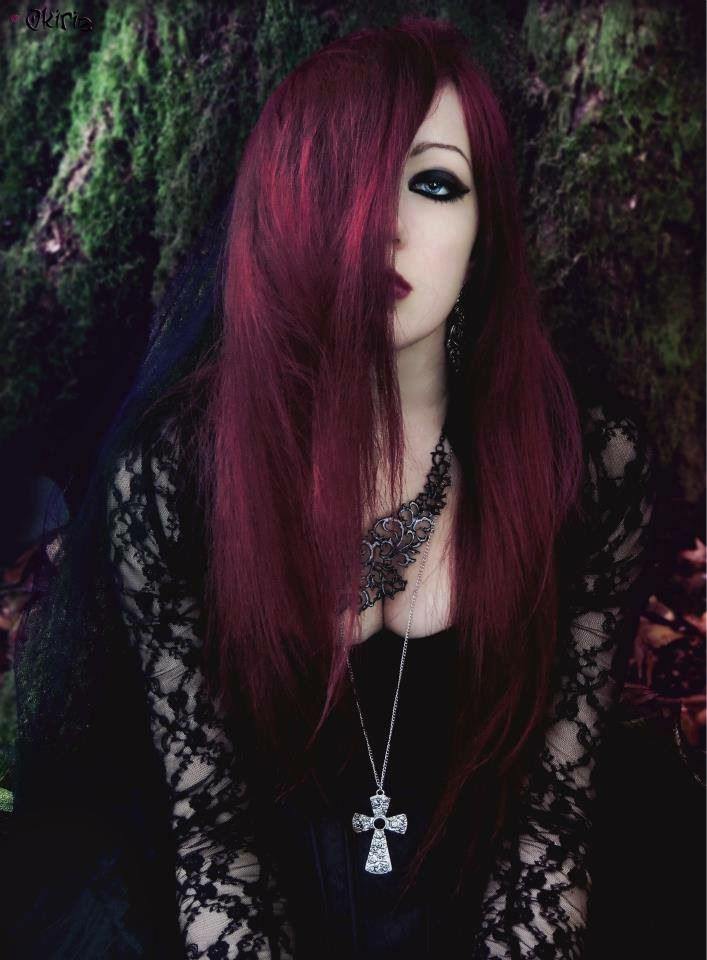 Burgundy Hair Goth Fashion Gothic Hairstyles Goth