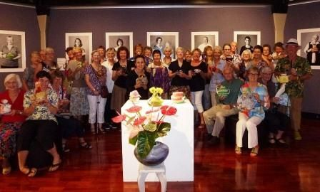 A cosy morning tea at the Loani Prior Exhibition at the Tableland Regional Gallery
