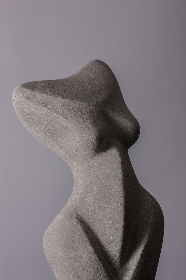 "Standing Torso Series 1 View 2 - concrete - 33""h x 14""w 10""d"