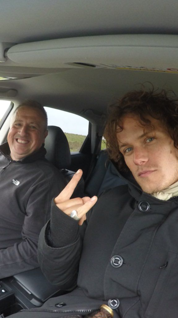 Here is a new pic of Sam Heughan.