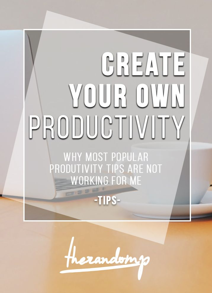 Productivity tips that don't work: http://therandomp.com/blog/2015/7/27/why-focusing-on-one-thing-is-not-working
