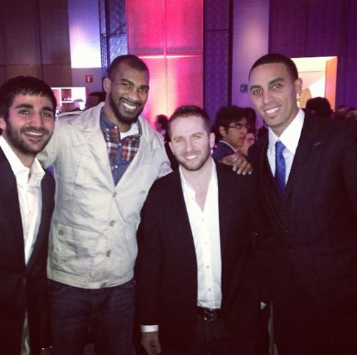 twolvesnation:  The Wolves at a NBA event in Mexico City! 12/3/13 Photo from Instagram  Oh yeah t-wolves players in suits… yes please!!!!!!!