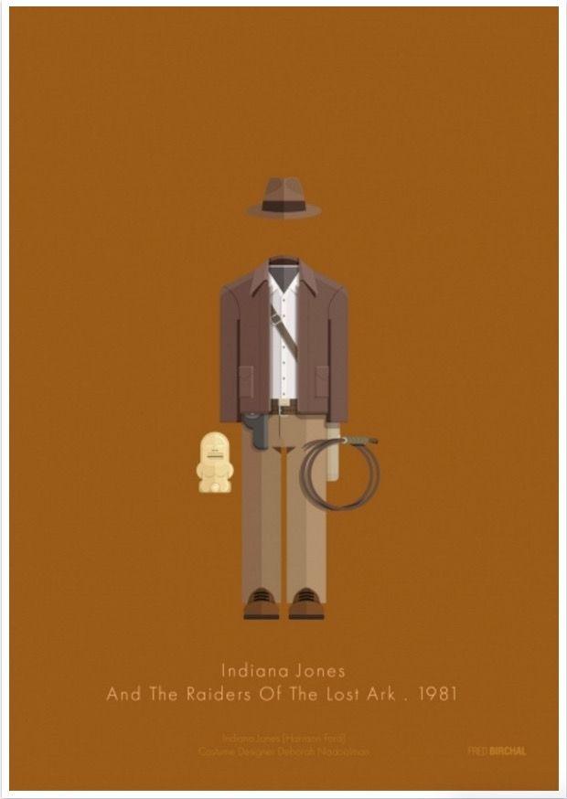 #Diseño: 24 #carteles de #cine a través de su #vestuario