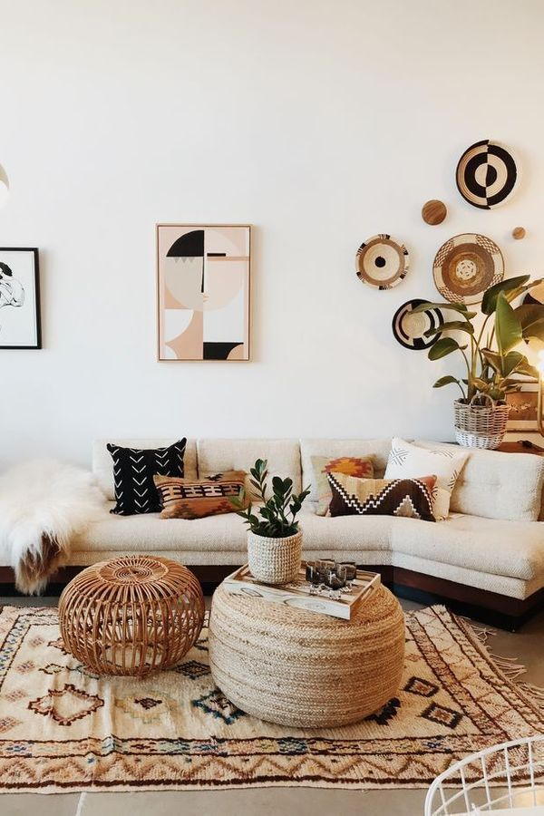 Living Room Coffee Table Boho Chic Couch Interior Design Furniture