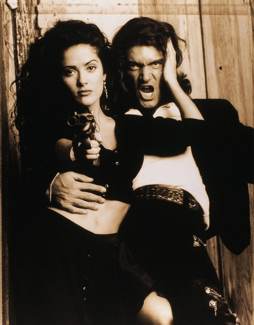 Selma Hayek with Antonio Banderas for Desperado http://VIPsAccess.com/luxury-hotels-los-angeles.html