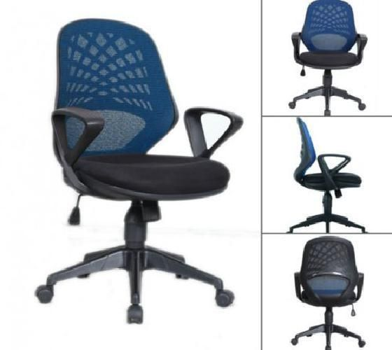 Blue Computer Chair Desk Table Home Swivel Seat Mesh Office Bedroom Teens Adults