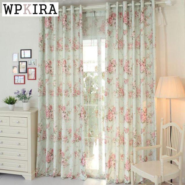 Fleur tissu rideau de mode de haute qualité fil de rideau rideaux tissu rustique rideau tulle tissu tulle fleurs #30