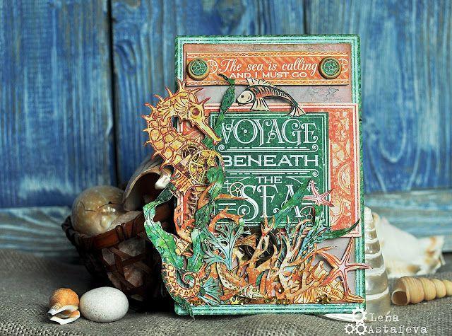 Открытка Voyage Beneath the Sea Graphic 45