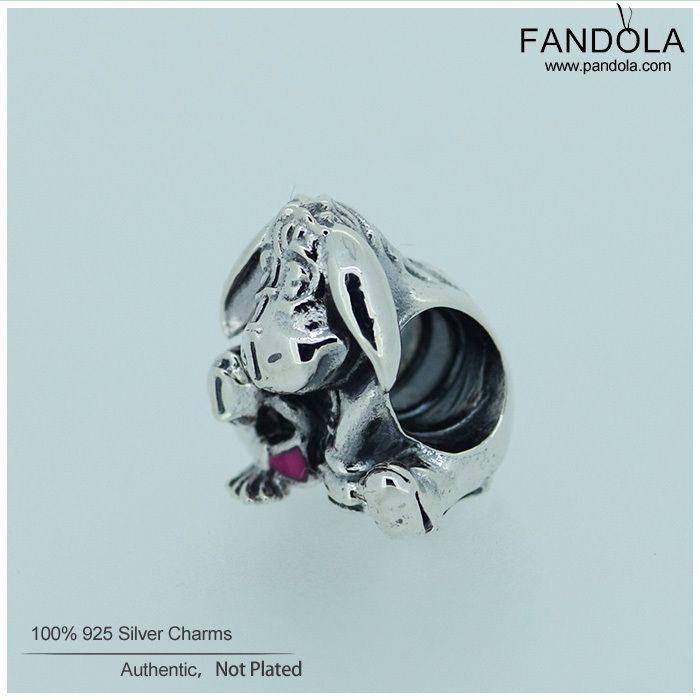 Подходит Pandora Подвески Браслет 100% Стерлингового Серебра 925-Серебро-Ювелирные Изделия Иа Шариках с Темно-Розовой Эмалью Ювелирные Изделия DIY делая FL186