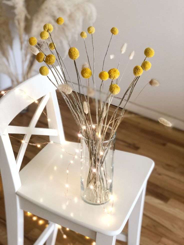 Billy Balls 20 Pcs Bunny Tails Dried Bouquet Craspedia Billy Buttons Pampas Grass Yellow Dried Flowers Wedding Bouquet Home Decor Bouquet Home Decor Dried Flowers Wedding What Is Wedding