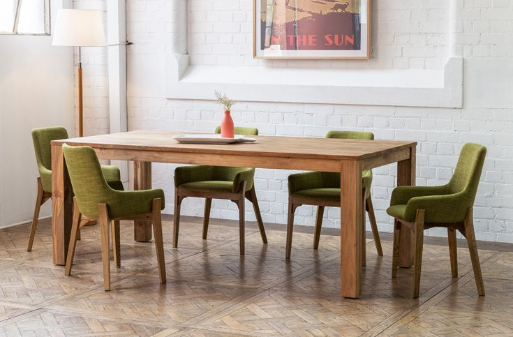 Darma 200cm Interior Dining Table In Recycled Teak Also Available In Exterior Finishes 250cm 300cm Sizing Shop S Dining Table Casual Dining Table Dining