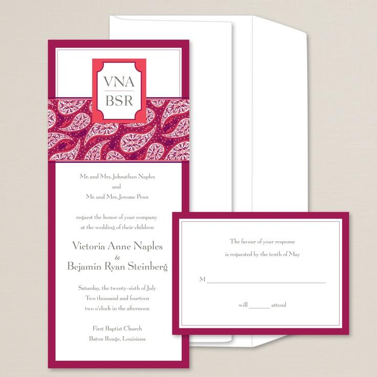 Modern Romance Wedding Invitation