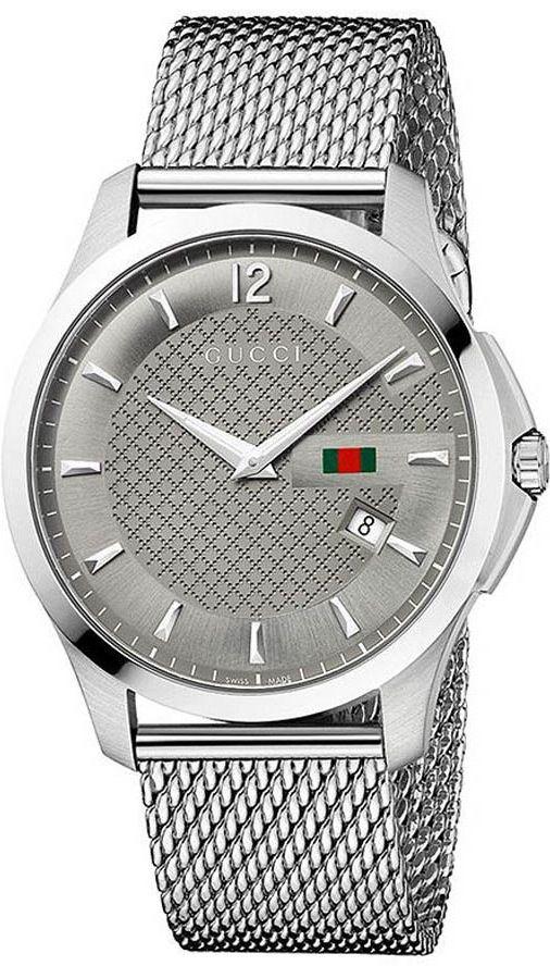 Gucci Watch , Gucci Men's YA126301 Gucci Timeless Anthracite Diamond Pattern Watch