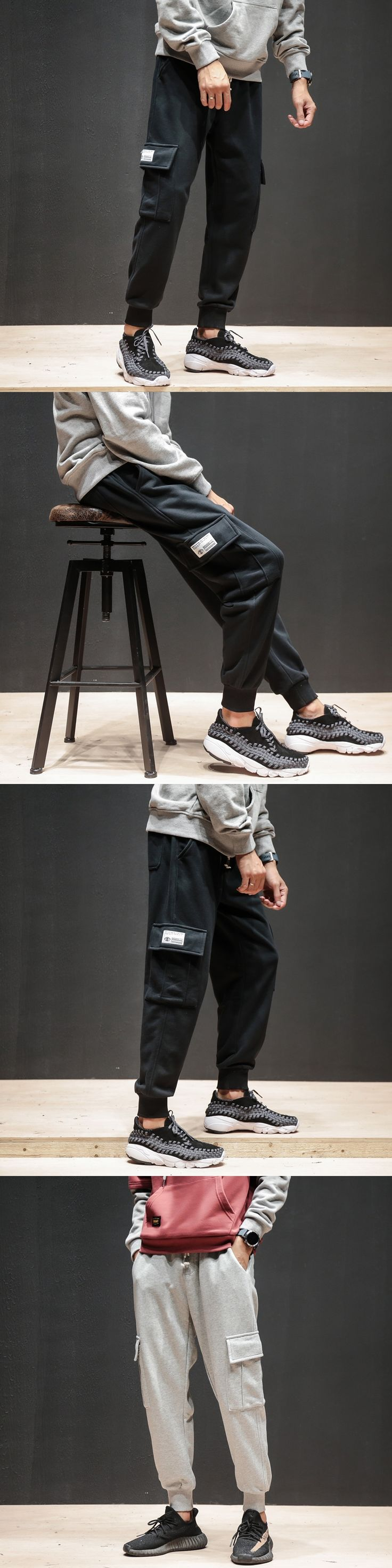 Men Street Fashion Casual Cargo Pants Jogger Sweatpants Male High Quality Loose Cotton Harem Trousers