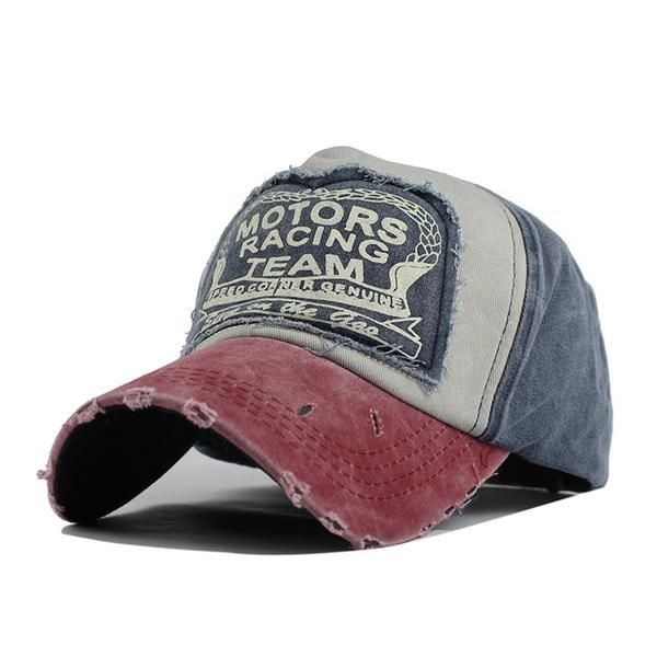 ed7c25940d2 Vintage Style Racing Team Cap! This vintage hat is a popular classic! This  worn style cap is available in several different colors.