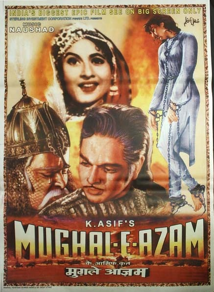 vintage Bollywood posters online, Mughal-e-Azam Poster