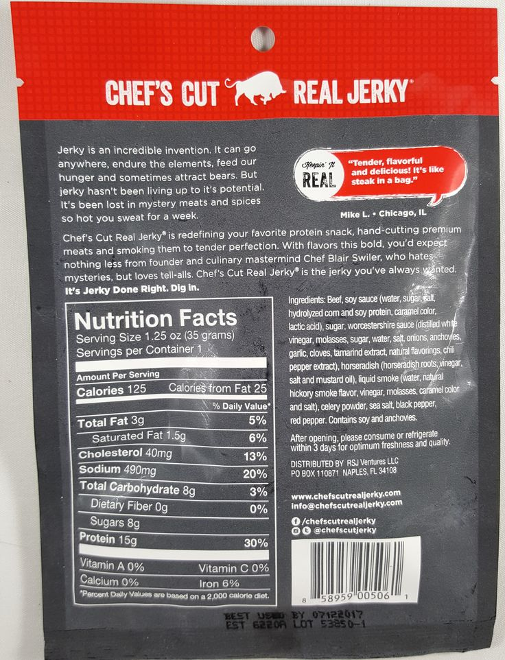 Chef's Cut Real Jerky - Original Recipe beef jerky review. http://jerkyingredients.com/2017/07/15/chefs-cut-real-jerky-original-recipe-beef-jerky-2/ #chefscutrealjerky #beefjerky #review #food #jerky #ingredients #jerkyingredients #jerkyreview #beef #paleo #paleofood #snack #protein #snackfood #foodreview #orignaljerky @chefscutjerky