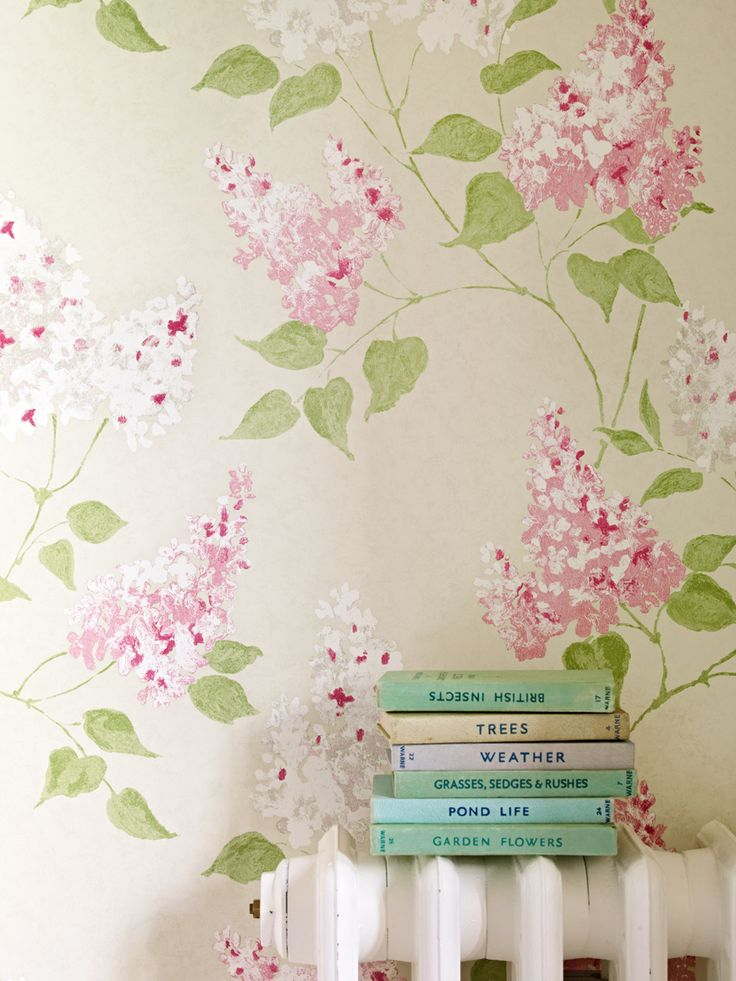 A Romantic Sophisticated Lilac Tree Floral Wallpaper Design With Subtle Tonal Effects