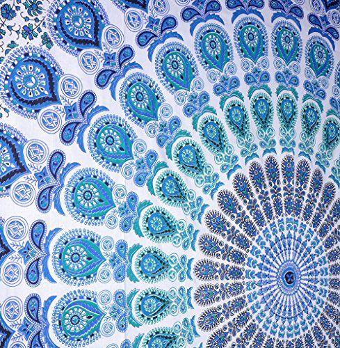 Rawyal indischer Mandala-Wandbehang Pfau-Motiv, Hippie-Stil, indisches Motiv, auch als Überwurf, Tagesdecke verwendbar Rawyal http://www.amazon.de/dp/B00VI8Q8T0/ref=cm_sw_r_pi_dp_yYmbxb0PQRKR4