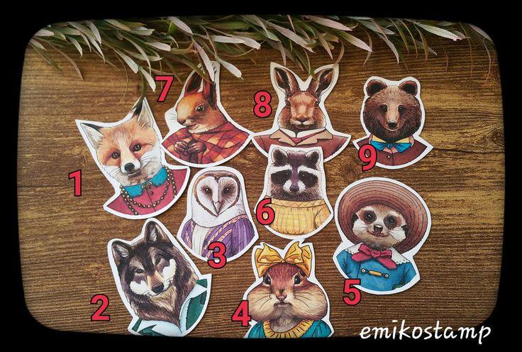 1 Woodland Magnetic Animals Fridge Magnet,Vintage Animal,Stationary,Handmade in Collectables, Magnets | eBay!