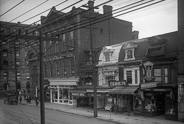 Yonge and Bloor streets, Toronto, 1926. #vintage #1920s #Canada #streets