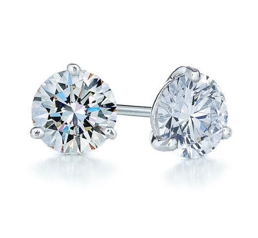 Gorg! 1.50ct  diamond & platinum stud earrings.