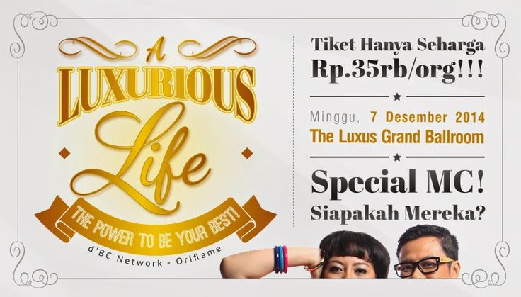 "Dunia Hijab Wiwik :): d'BCN Jakarta BIG OOM ""A Luxurious Life, Expanding...Ikutan Yuks ;) 35rb saja HTM"