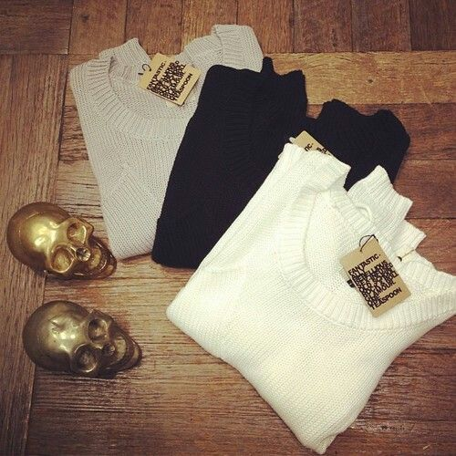 #clothes #skulls #candles #white #black #grey #sweaters