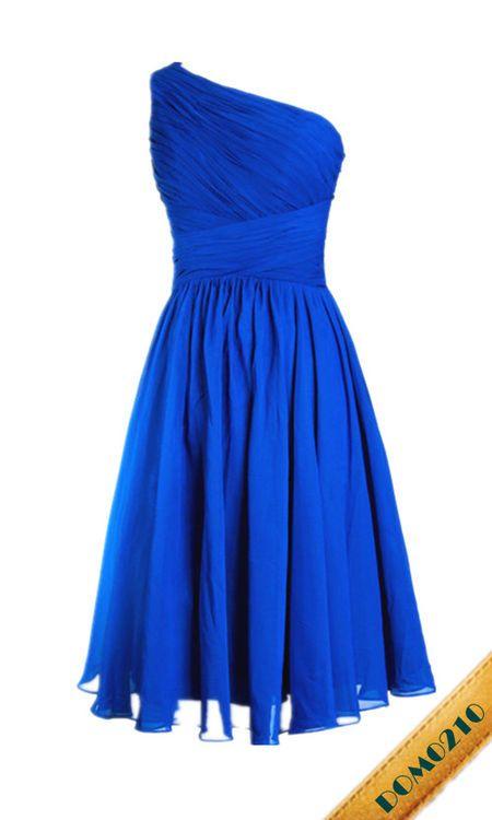 blaues kurzes Abiballkleid | Blaues kleid, Abendmode und ...