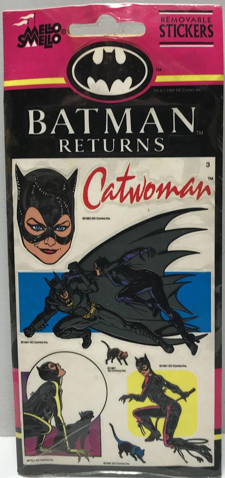 Fashion of the bat an extremely thorough examination of batman s - Tas037741 1991 Mello Smello Batman Returns Catwoman Stickers