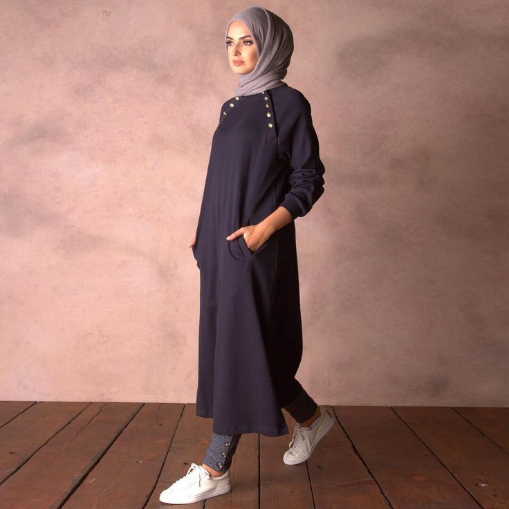 Oversized Navy Rib Jumper | embrace the military trend, modestly. Shop online and in-store #Aab #modest #fashion