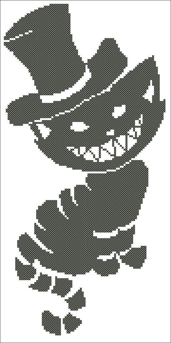 Cheshire Cat Embroidery Picture  Instant Download by ElfinTales
