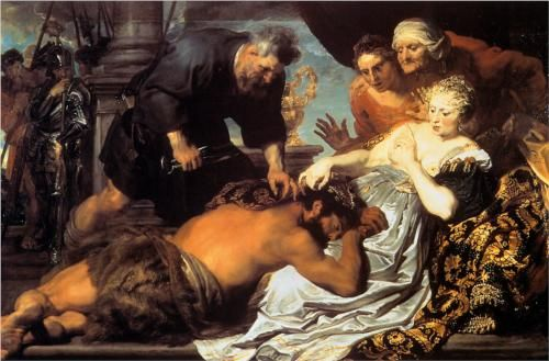 Samson and Delilah - Anthony van Dyck  Completion Date: 1620  Style: Baroque  Genre: religious painting  Technique: oil  Material: canvas  Gallery: Dulwich Picture Gallery, London, UK