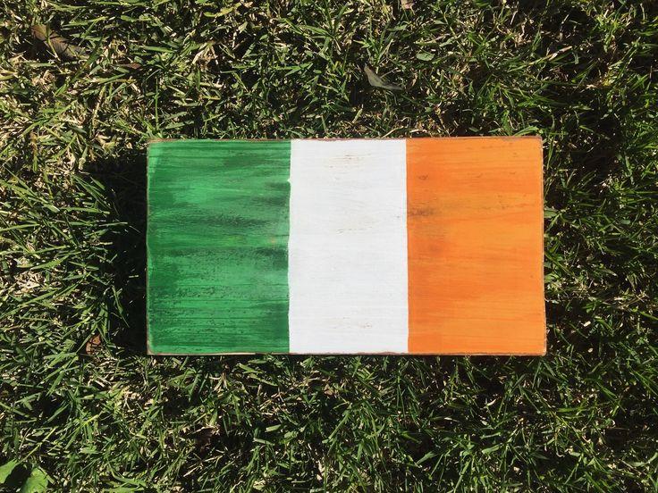 Irish flag sign Irish decor shamrock sign decor st paddy's day rustic decor farmhouse decor beach cottage decor luck of the irish