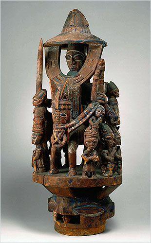Africa   Epa helmet mask by Bamgboye of Odo-Owa.  Yoruba people, Nigeria   ©Detroit Institute of Arts
