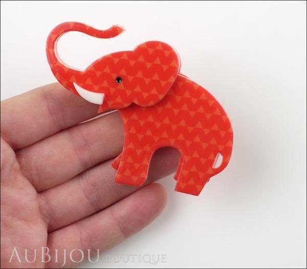 Erstwilder Brooch Pin Elizaveta The Elephant Red Model
