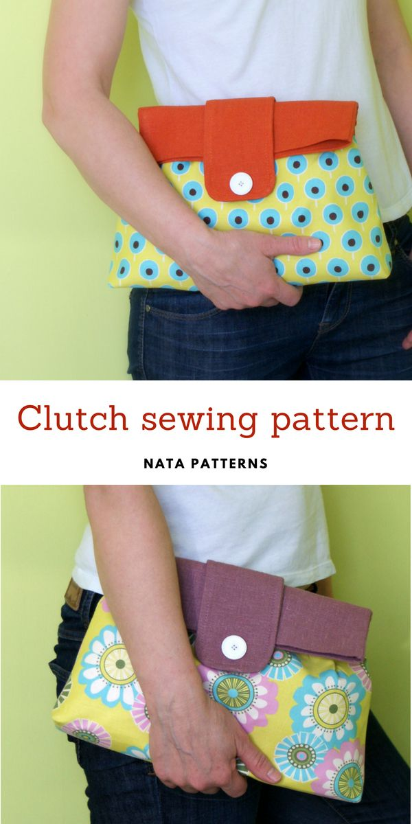 Sewing Clutch Pattern Clutch Purse Pattern Bag Sewing Pattern Pdf